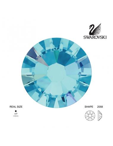 Swarovski® 2058 Aquamarine Aurore Boreale SS9 (2.50-2.70mm)